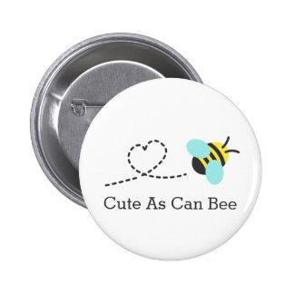 Niedlich, wie Biene kann Runder Button 5,1 Cm