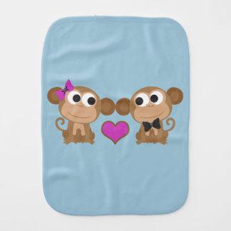 Niedliche Affe-Liebe Spucktuch