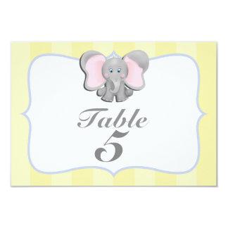 Niedliche Baby-Elefant-Party-Tischnummer-Karte #2 Karte