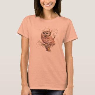 Niedliche Baby-Eule für die die Liebe Vögel T-Shirt