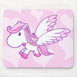 Niedliche Baby-Pegasus-Mausunterlage Mauspads