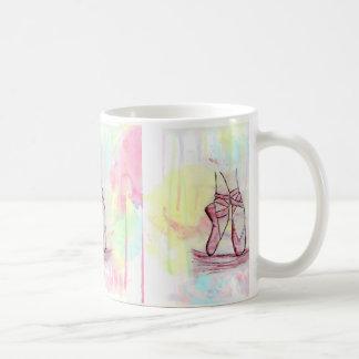 Niedliche Ballettschuh-Skizze Watercolorhand Kaffeetasse