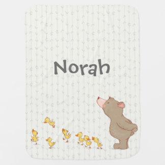 Niedliche Bärn-und Enten-Baby-Namen-Person-Decke Puckdecke