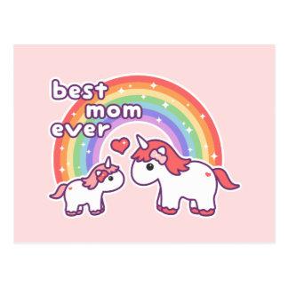 Niedliche beste Unicorn-Mamma überhaupt Postkarte