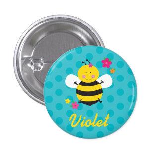 Niedliche Bienen-personalisiertes Button/Knopf Runder Button 3,2 Cm