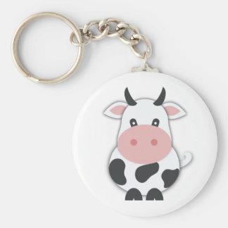 Niedliche Cartoon-Kuh Schlüsselanhänger