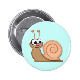 Niedliche Cartoon-Schnecke Runder Button 5,7 Cm