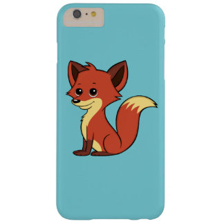 Niedliche CartoonFox hellblaue iPhone 6 Plusfall Barely There iPhone 6 Plus Hülle