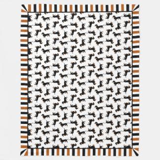 Niedliche Dackel-Dackel-Muster-Decke Fleecedecke