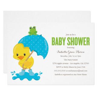 Niedliche Duckie Baby-Duschen-Einladung Karte