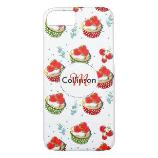 Niedliche Erdbeere und Creme überstiegen Yummy iPhone 8/7 Hülle