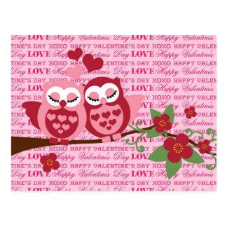 Niedliche Eulen Geschenken Liebein den glücklichen Postkarte