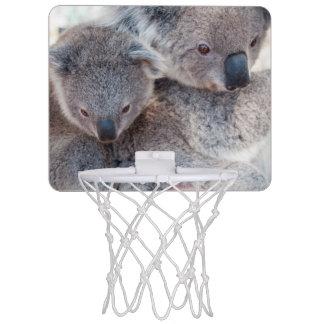 Niedliche flaumige graue Koala Mini Basketball Netz
