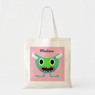 Niedliche gehörnte Monster-Taschen-Neontasche Tragetasche