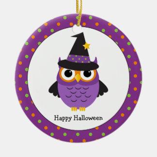Niedliche Halloween-Eule scherzt Verzierung Keramik Ornament