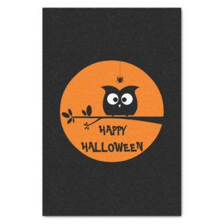 Niedliche Halloween-Eule Seidenpapier