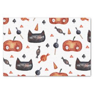 Niedliche Halloween gemalte Muster (Customizeable Seidenpapier