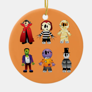 Niedliche Halloween-Kostümcharaktere Keramik Ornament