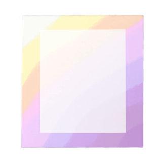 niedliche helle Neonbrushstrokes Unicornfarben Notizblock