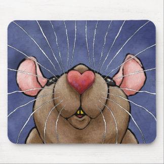 Niedliche Herz-Ratte Mousepad