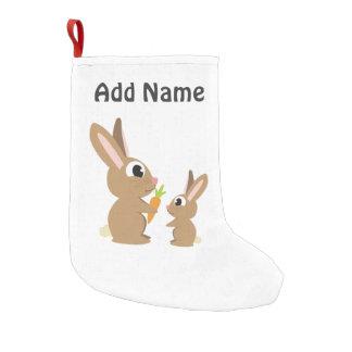 Niedliche Kaninchen Kleiner Weihnachtsstrumpf
