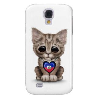 Niedliche Kätzchen-Katze mit dem haitianischen Galaxy S4 Hülle