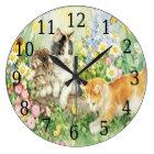 Niedliche Kätzchen-runde Uhr