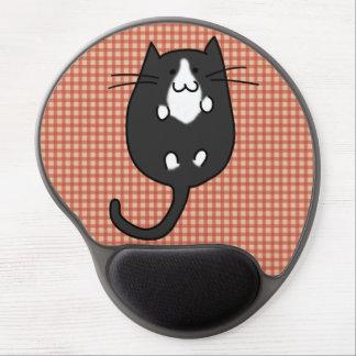 Niedliche Katze Schwarzweiss Gel Mousepad