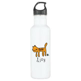 Niedliche Katzen-&joy Gekritzel Edelstahlflasche