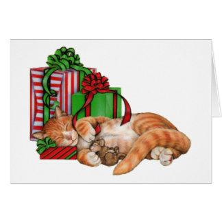 Niedliche Katzen-, Mäuse-und Weihnachtsgeschenke Karte