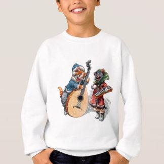 Niedliche Katzen-Spielmandoline und Xylophone im Sweatshirt