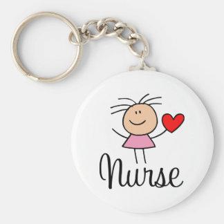Niedliche Krankenschwester Keychain Standard Runder Schlüsselanhänger