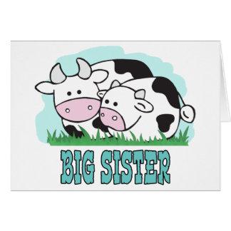 Niedliche Kuh-große Schwester Karte