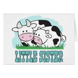Niedliche Kuh-kleine Schwester Karte