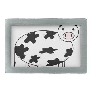 Niedliche Kuh Rechteckige Gürtelschnalle