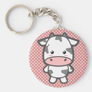 Niedliche Kuh Schlüsselanhänger