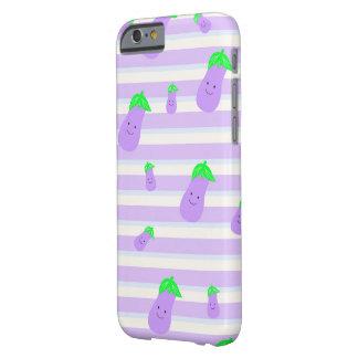 Niedliche lila kawaii Aubergine auf Barely There iPhone 6 Hülle