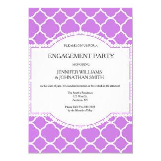Niedliche lila Muster-Verlobungs-Party Einladungen