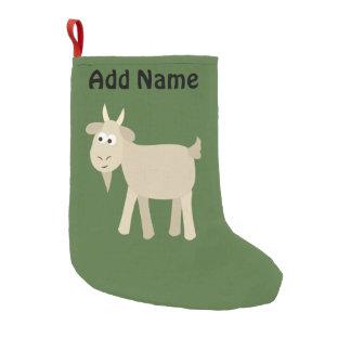 Niedliche lustige kleine Ziege Kleiner Weihnachtsstrumpf