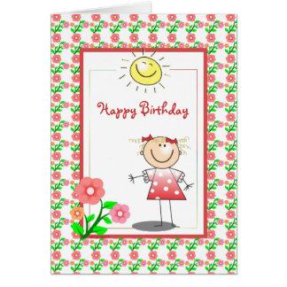 Niedliche Mädchen-Geburtstags-Karte Grußkarte