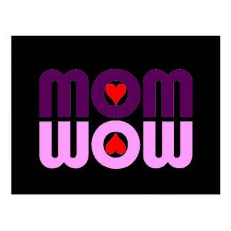 Niedliche Mammareflexion mit Herzen Postkarte