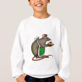 Niedliche Mutter Rat With Pie: Zeichnen: Sweatshirt