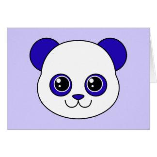 Niedliche Panda-Blaubeere Grußkarte