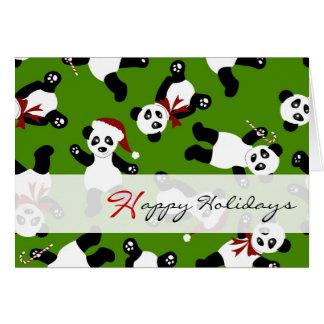 Niedliche Panda-glückliche Grußkarte