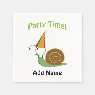 Niedliche Party-Zeit-Schnecke Serviette