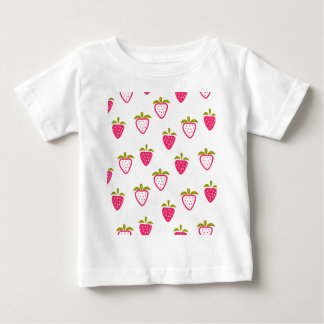 Niedliche rosa Erdbeere Baby T-shirt