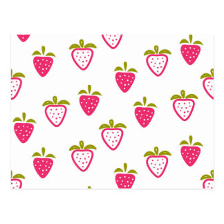 Niedliche rosa Erdbeere Postkarte