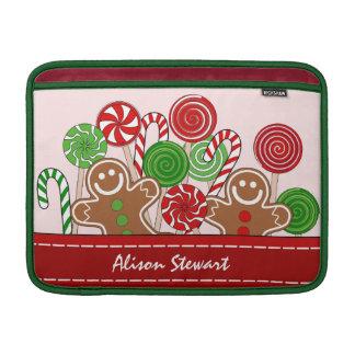 Niedliche rote Weihnachtslebkuchen MacBook Air Sleeve