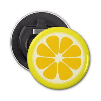 Niedliche saftige Zitrusfrucht-Zitronen-tropische Runder Flaschenöffner