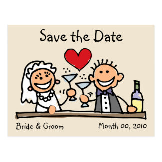 Niedliche Save the Date Postkarten